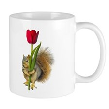 Squirrel Red Tulip Mug