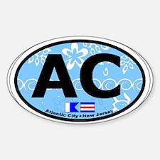 Atlantic City NJ - Oval Design. Decal