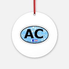 Atlantic City NJ - Oval Design. Ornament (Round)
