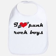 I heart Punk Rock boys Bib