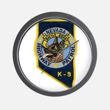 Nevada Highway Patrol K9 Wall Clock