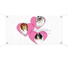 Sheltie Hearts Banner