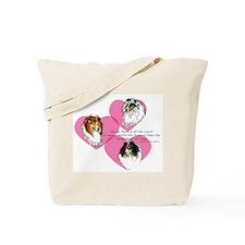 Sheltie Hearts Tote Bag