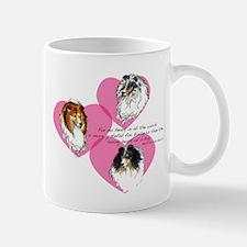 Sheltie Hearts Mug