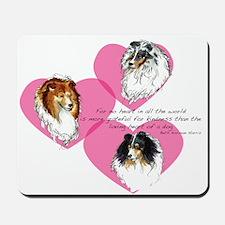 Sheltie Hearts Mousepad