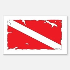 Dive flag #4 Bumper Stickers