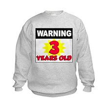 Warning 3 Years Old Sweatshirt