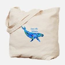 Humpback Save the Whales Tote Bag