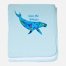Humpback Save the Whales baby blanket