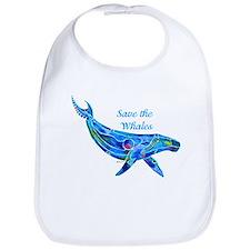 Humpback Save the Whales Bib