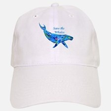 Humpback Save the Whales Baseball Baseball Cap