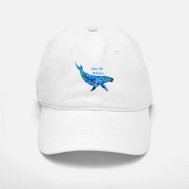 Humpback Save the Whales Baseball Baseball Cap