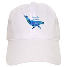 Humpback Save the Whales Baseball Cap