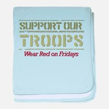 Cute Support marines baby blanket