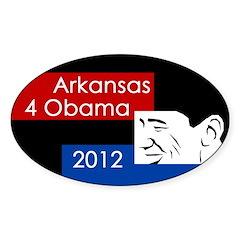 Arkansas 4 Obama oval bumper sticker