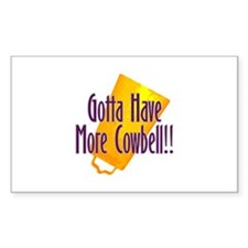 Cowbell Rectangle Decal