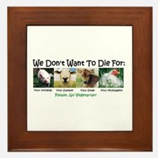 Animal Voices Framed Tile
