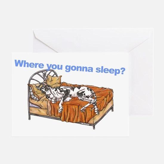 CH Where you gonna sleep Greeting Card