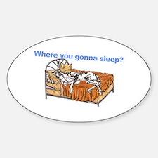 CH Where you gonna sleep Decal