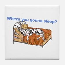 CH Where you gonna sleep Tile Coaster