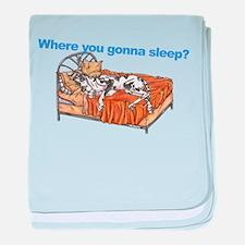 CH Where you gonna sleep baby blanket