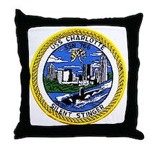 USS Charlotte SSN 766 Throw Pillow