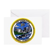 USS Charlotte SSN 766 Greeting Cards (Pk of 10)