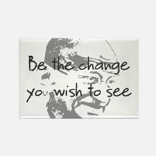 Cute Gandhi be the change Rectangle Magnet