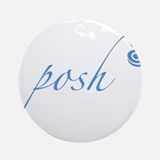Bright Blue Posh Ornament (Round)
