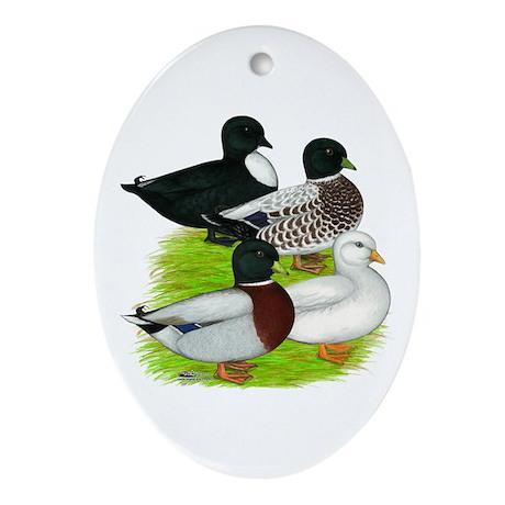 Call Duck Quartet Ornament (Oval)