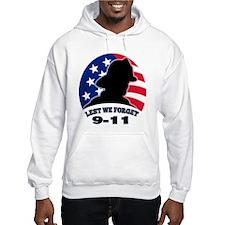 Remember 9-11 Fireman Hoodie