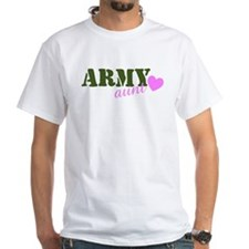 Army Aunt Green & Pink Heart Shirt