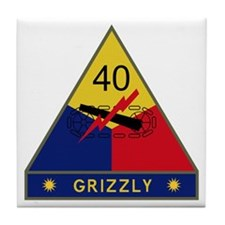 Grizzly Tile Coaster