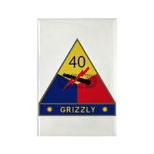 Grizzly Rectangle Magnet (10 pack)