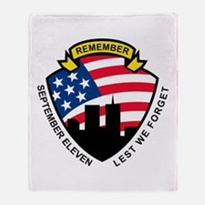 9-11 wtc building Throw Blanket