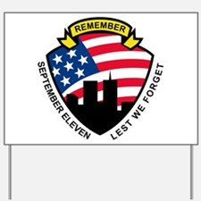 9-11 wtc building Yard Sign