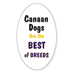 Canaan Dog Best Breed Oval Decal