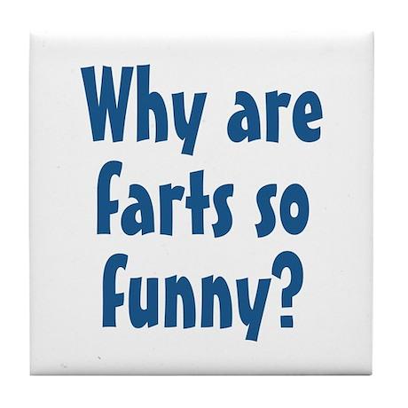 Funny Farts Tile Coaster