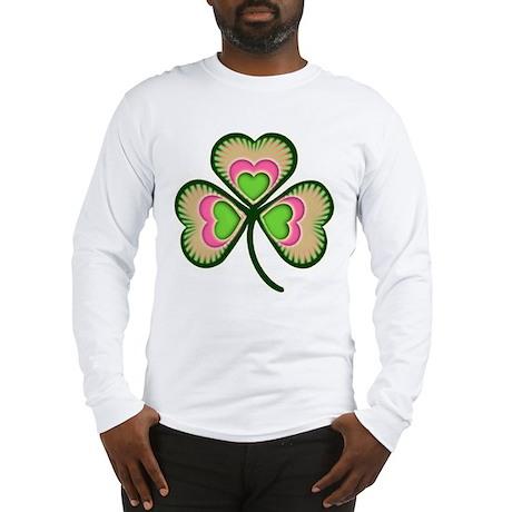 Fancy Irish Shamrock Long Sleeve T-Shirt