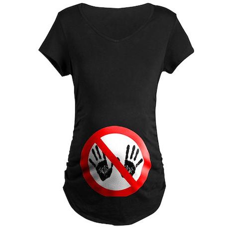 Hands Off Maternity Dark T-Shirt