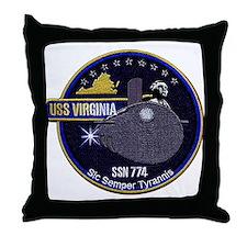 USS Virginia SSN 774 Throw Pillow