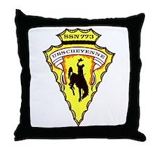 USS Cheyenne SSN 773 Throw Pillow