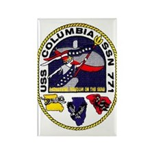 USS Columbia SSN 771 Rectangle Magnet