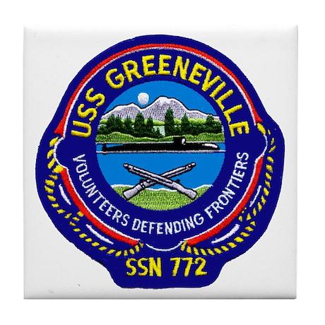 USS Greeneville SSN 772 Tile Coaster