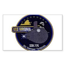 USS Virginia SSN 774 Rectangle Decal