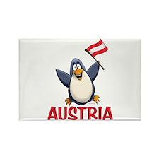 Austria Penguin Rectangle Magnet