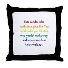 Fate Decides Throw Pillow