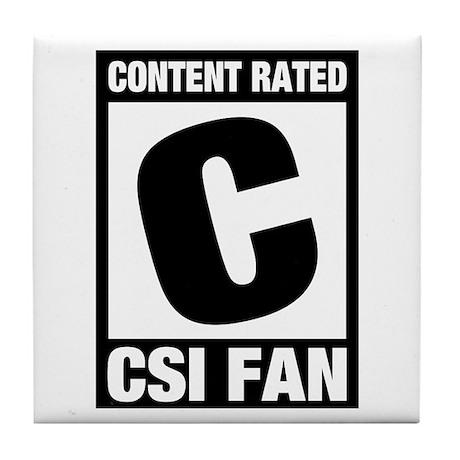 CSI Fan Tile Coaster
