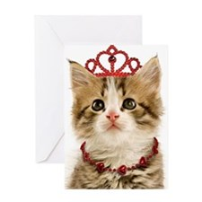 Princess Kitten Valentine Card