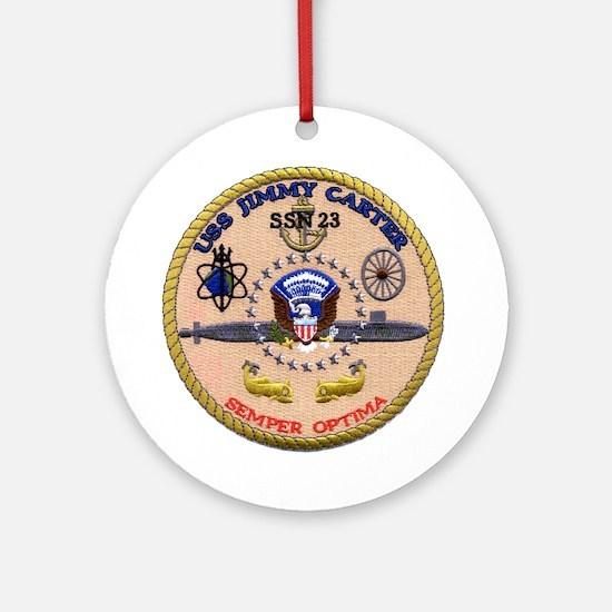 USS Jimmy Carter SSN 23 Ornament (Round)